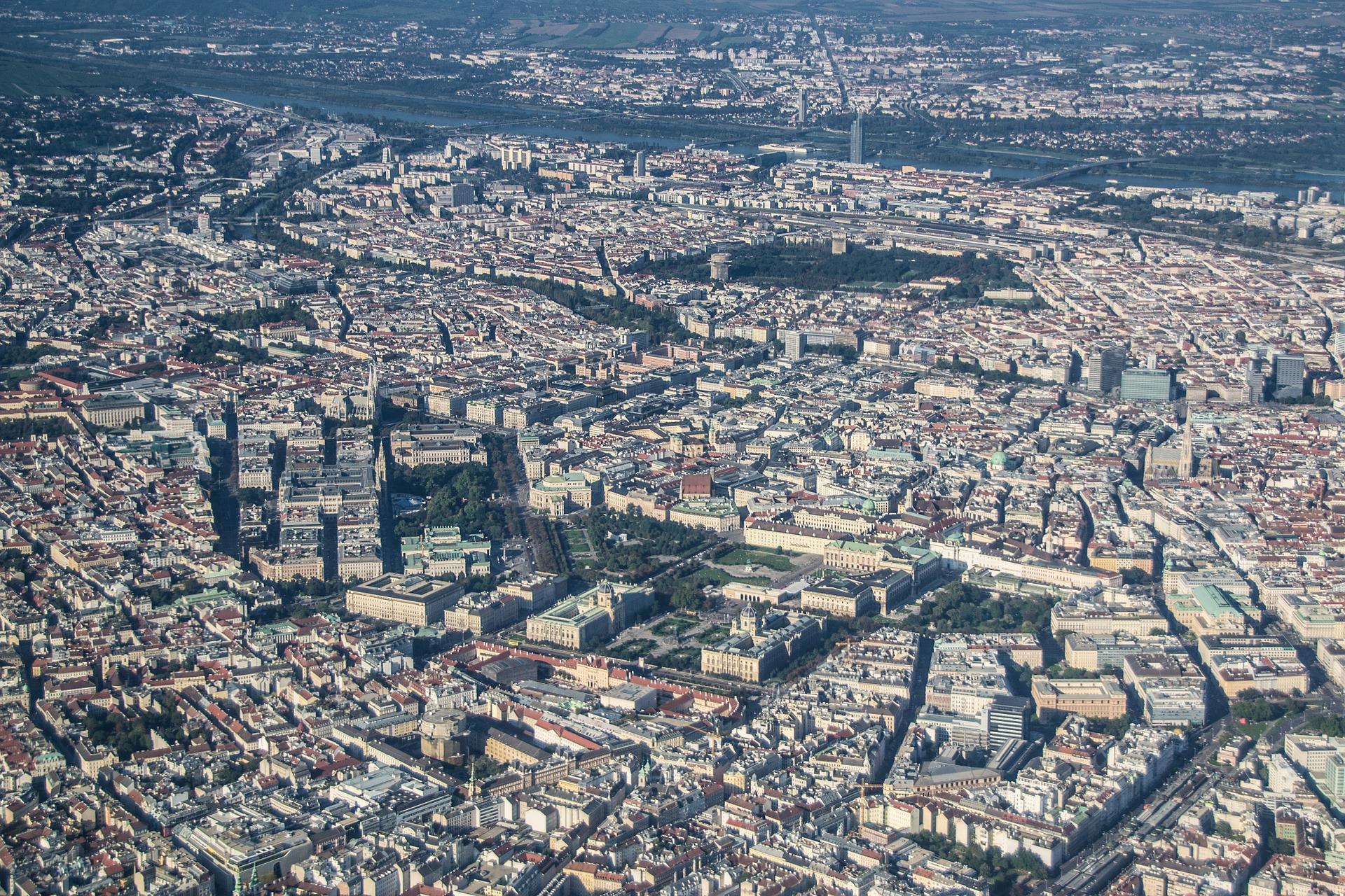 Вена - вид с воздуха
