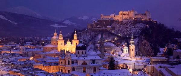 Зальцбург в зимнее время