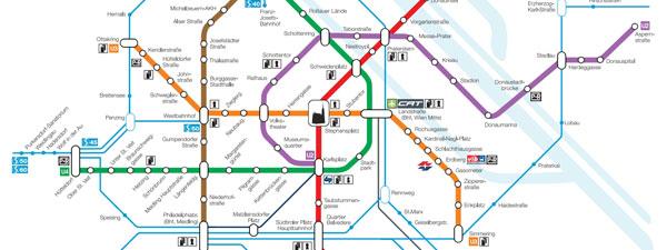 часть карты метро в Вене