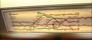 схема метро в вагоне