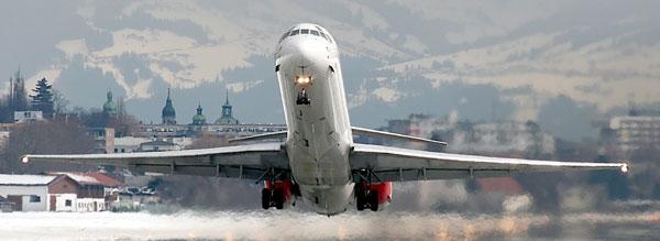 взлетная полоса в аэропорту Австрии
