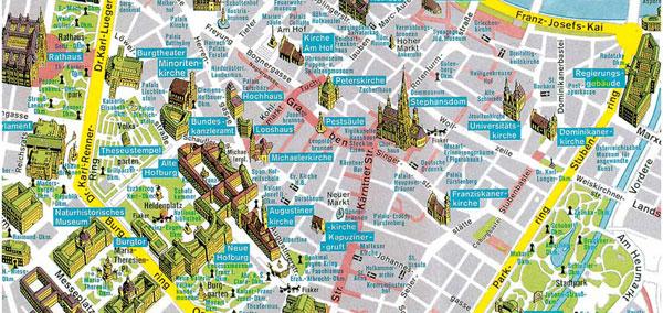 фрагмент карты Вены