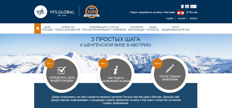 Сайт визового центра Австрии в Москве официальный