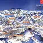 карта горнолыжного курорта в Инсбруке