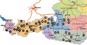 карта курортов Австрии