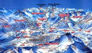 горнолыжный отдых в Инсбруке (карта)