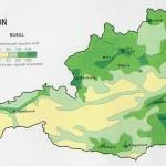 Карта плотности населения Австрии